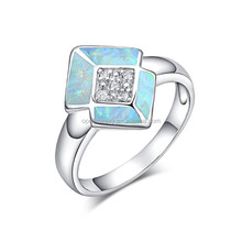 Hot Selling K5 Fire Opal 925 Sterling Silver Ladies Ring Designs