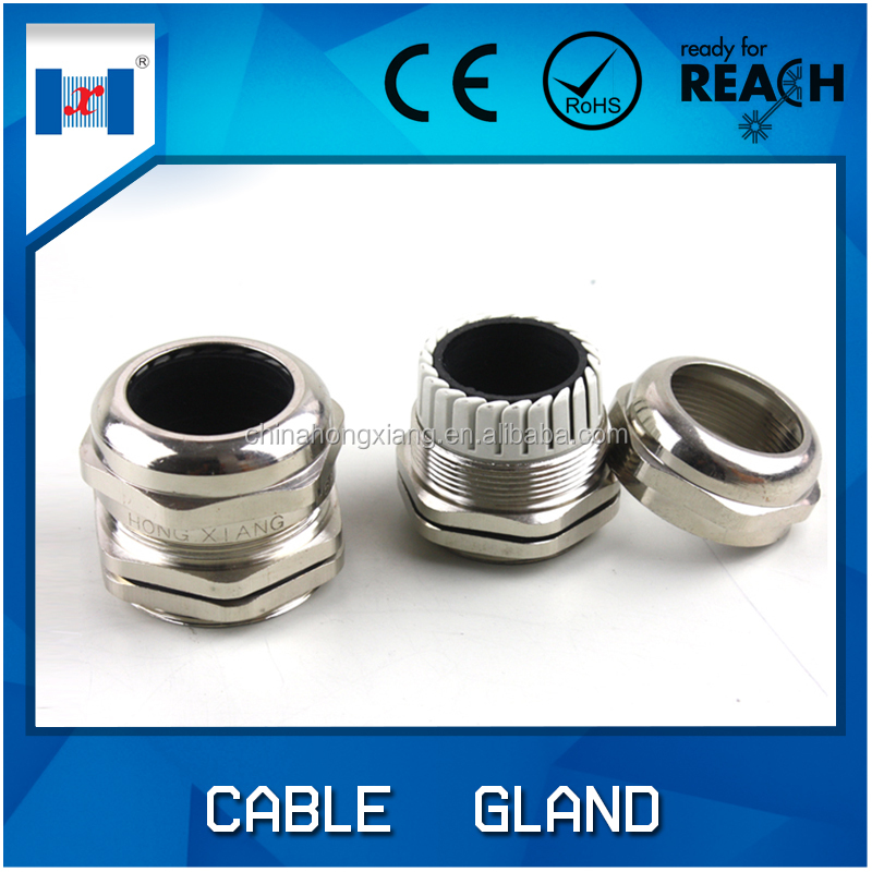 Free sample waterproof EMC brass cable gland metal screw caps