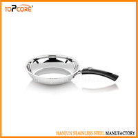 Factory price round stainless steel frying pan for breakfast