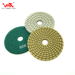 Wet or Dry Used Flexible Diamond Polishing Pad For Stone Granite Marble Polishing