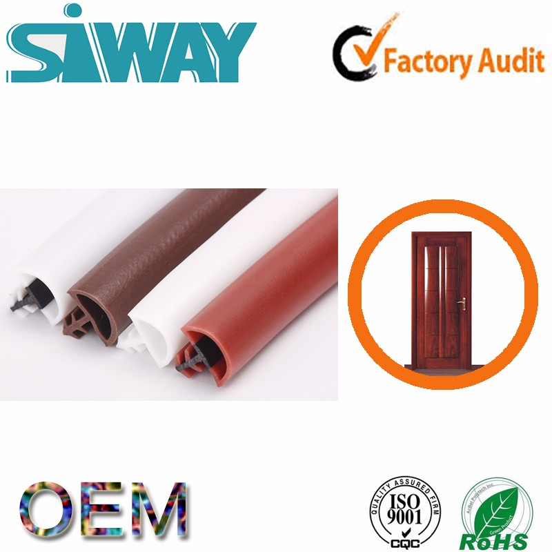 OEM epdm extruded silicone door bottom pvc sauna door seal strip