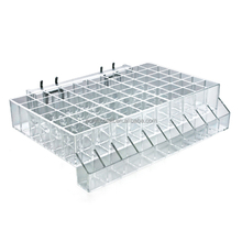custom made plexiglass acrylic makeup display case Sixty-Compartment Lipstick Tray with Tester