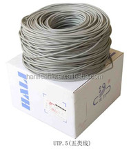 Lan kabel utp cat5e 24 awg 0.50mm flat network cable