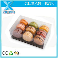 Clear Eco Friendly Packaging PET Macaron