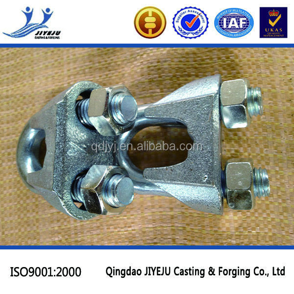 Hardware Rigging US type galv malleable wire rope clip