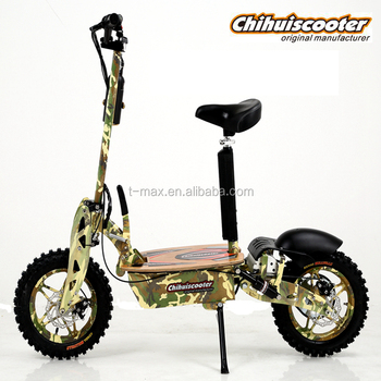 Yongkang chihui foldable electric scooter with off-road tire, roller scooter elektrisch