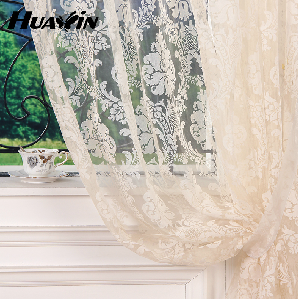 jacquard sheer organza upholstery curtain fabric