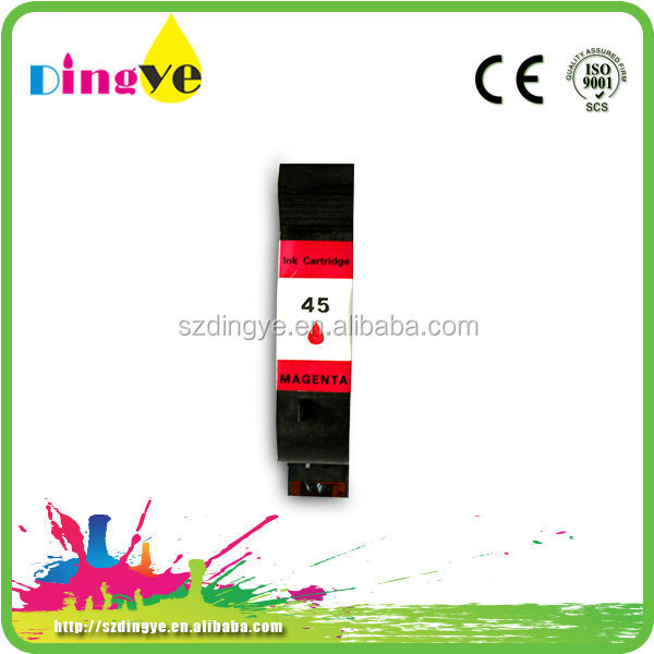 Recycled inkjet cartridge magenta color for hp 51645
