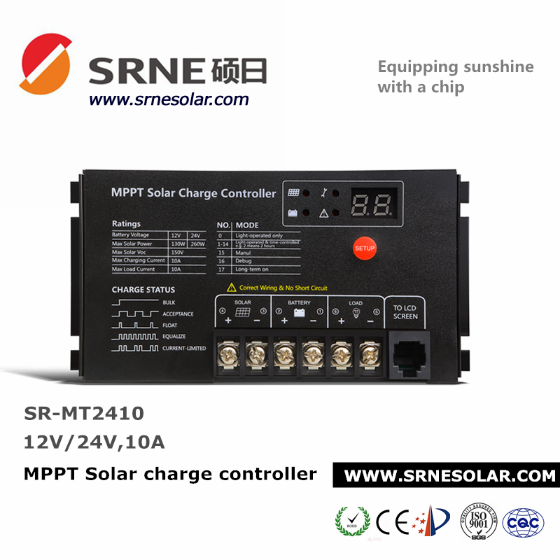 controller charger solar controller 12/24 voltage 10A mppt 10 amp solar charge controller