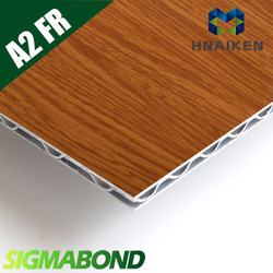 4mm A2 ACP Aluminum wood effect composite wall cladding