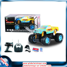 Top seller! kids games toy cars made in China rc replica car rc model truck with big wheels monster truck rc stunt car