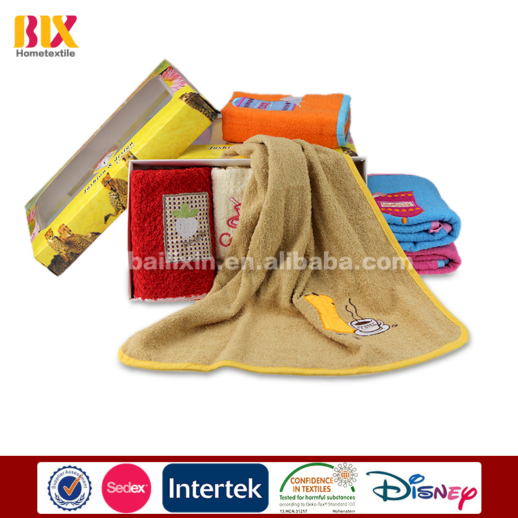best selling cotton kitchen towel with embroidery