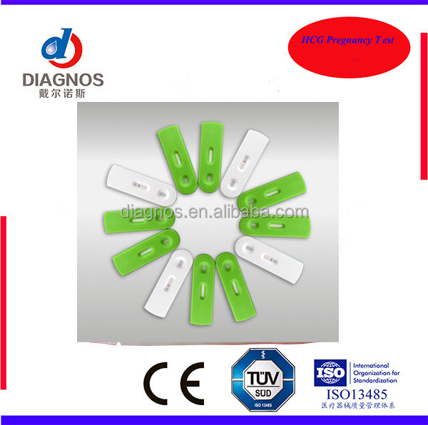 NEW Design !! HCG pregnancy test cassette, green color test cassette