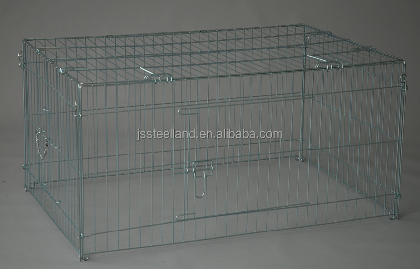 folding metal enclosure with 6-8 fences for pet exercise