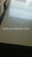 4x8 12mm wood grain melamine paper Plywood panels for furniture