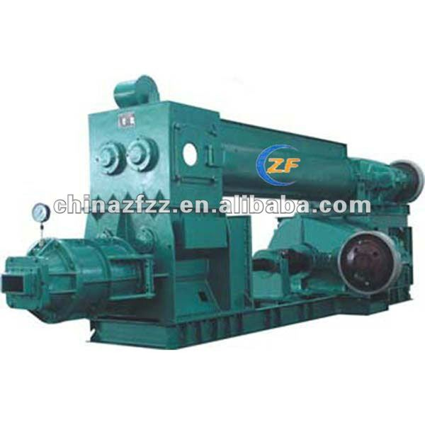 Small scale brick project,JKR45 Double stage vacuum extruder