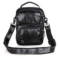 1010A JMD Real Cow Leather Messenger Bag For Men's Black Shoulder bag