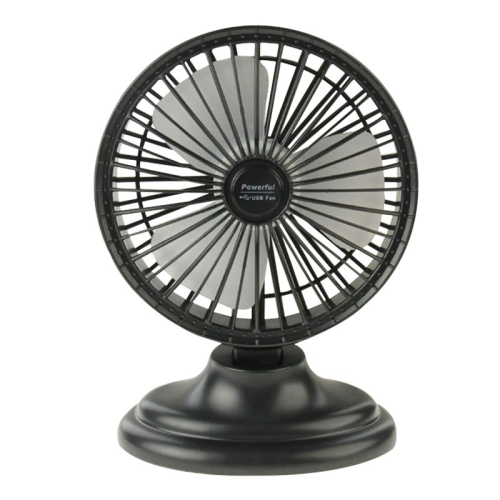 6 inch Portable USB / Lithium Battery Powered Desktop Mini Fan with Third Wind Gear Adjustment(Black)