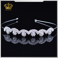 new designs rhinestone beauty crystal tiara goody hair comb accessories