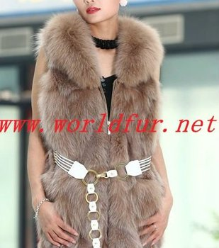 BY-HN-G033 Fashion Waistcoat for Women, fox fur