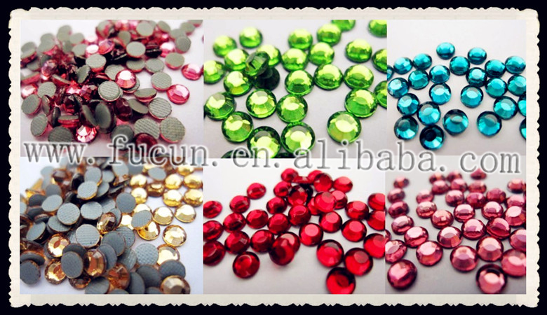 Sparkling dmc hotfix rhinestones for garment