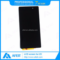 Black For Sony Xperia Z2 LCD touch screen with digitizer assembly replacement