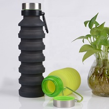 550ML Wholesale Outdoor Collapsible Silicone Squeeze Foldable <strong>Sports</strong> recyclable Collapsible Silicone Water Bottle