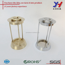 Custom CNC machining service, Mirror polished copper product, Essential oil lamp base
