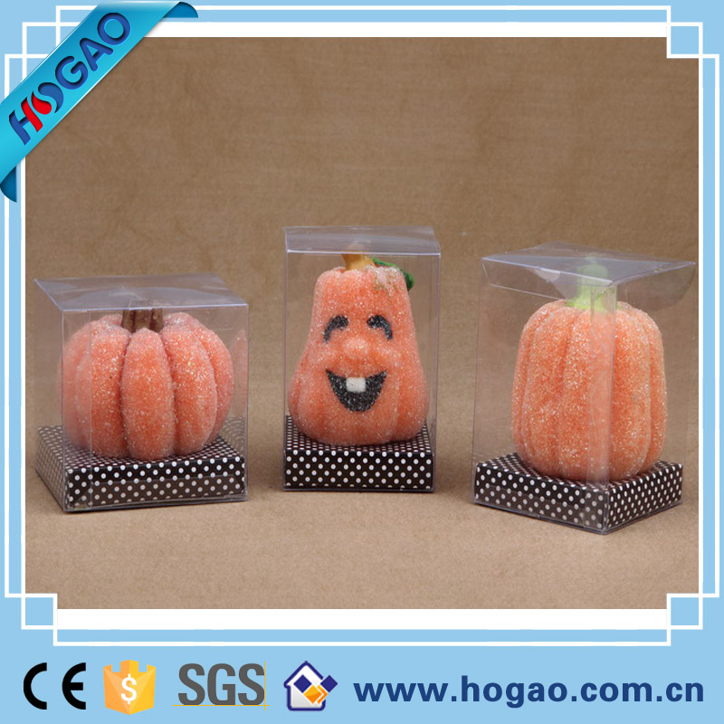 Pumpkin shaped halloween decoration candle /art candle holder jars molds