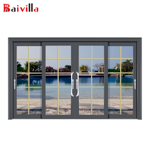 Cheap modern style tall patio aluminium sliding door french and windows design gear