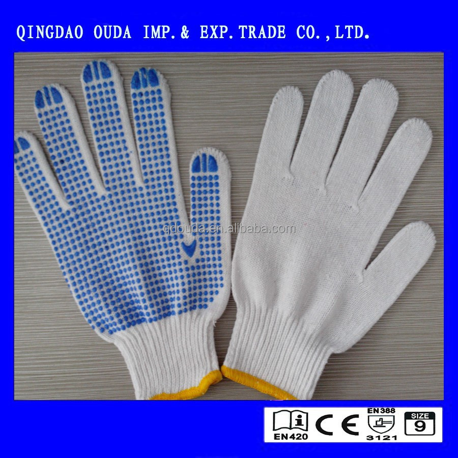 very cheap cotton work gloves with rubber grip dots,cheap work gloves,cotton gloves for eczema