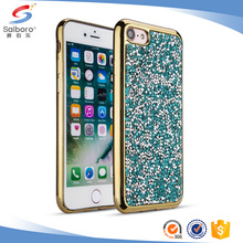 Double layer high quality hard diamond bling case for iphone 6 plus