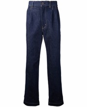 Custom Made Men Cotton Blend Drop-crotch Work Cropped Jeans