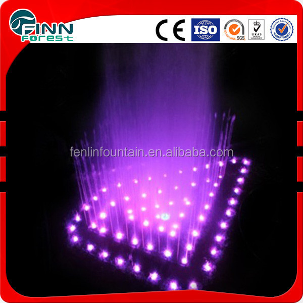 Decorative led lighted outside water fountains