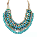 Daihe Boho Jewelry Wholesale Teardrop Statement Necklace 2016