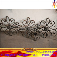 Metal ornamental cast iron rosette made in China for fence gate panel