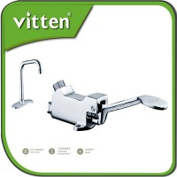 12377 Kitchen Brass Foot Operated Water Faucet