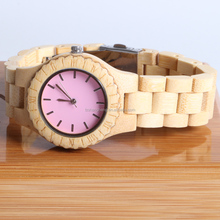 New style discount wooden watches japan movement watch