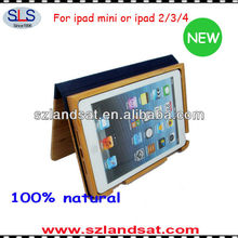 2015 new product for ipad mini case wood IBC07A