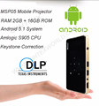 Android Pico Projector-Features with Vertical Keystone Correction Miracast and Airplay Function-Slim Wireless HD Portable Pocket