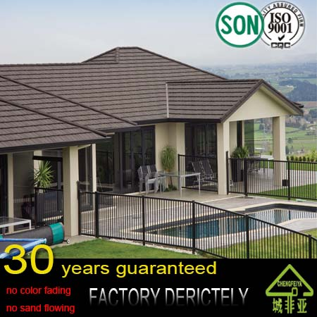 real factory hot selling good price stone coated metal roof,decorative metal roofs
