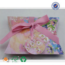 U color custom made pattern pillow boxes perfect for gift giving