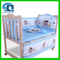 New design hot portable pine wood folded bed cot wooden baby bed , baby cot , wooden baby crib