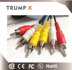 China top ten selling products 3 RCA to 3 RCA RCA Cable