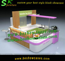 Fashional design UL certificate approval ice cream kiosk bubble tea kiosk for sale
