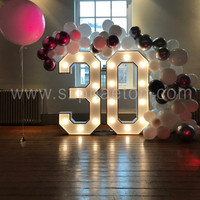 Giant light up numbers marquee letters for 30th 60th birthday party decorations