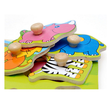 FQ brand high quality new wooden map jigsaw education animal wooden kids puzzle