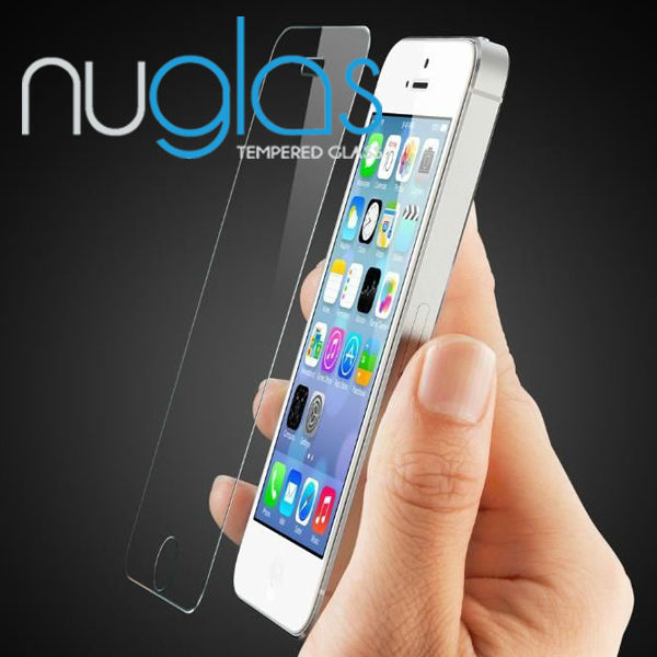Nuglas Clear Tempered Screen Protector/Guard/Ward For Iphone 4G/4S