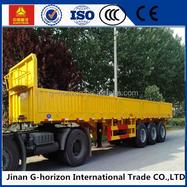 CIMC Side Wall Cargo Semi Trailers Factory Price China Heavy Duty Flatbed Truck Trailer With Sidewall