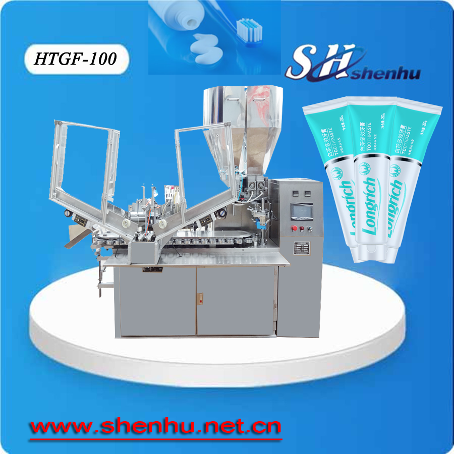 Shenhu Hot sale fully automatic toothpaste filling and sealing machine hot air inner heating for plastic soft tubes